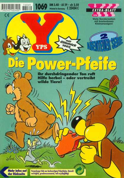 Yps - Die Power-Pfeife - Die Power-pfiefe - Whistle - Bear - Mose - Hat