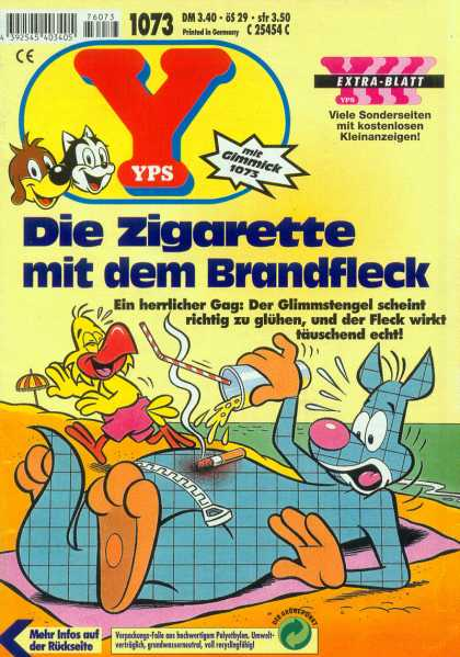 Yps - Die Zigarette mit dem Brandfleck - Die Zigarette - Laughing - Liquid From A Cup - My Nose Is Pink - Im Burning