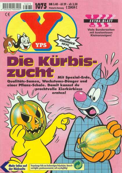 Yps - Die Kürbiszucht - Furries - Pumpkin Head - Weird Cat - Watermellon - Extra-blatt