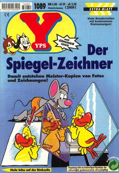 Yps - Der Spiegel-Zeichner - Mouse - Duck - Mirror - Reflection - Drawing