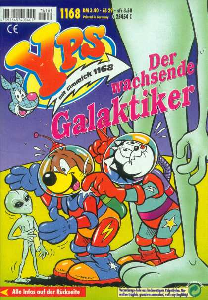 Yps - Der wachsende Galaktiker - Galaktiker - Cartoon Cats And Dogs - Little Green Alien - Giant Alien - Outer Space