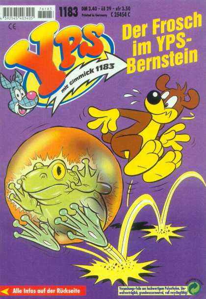 Yps - Der Frosch im YPS-Bernstein - German Comic - Dog - Frog - Hop - Bubble