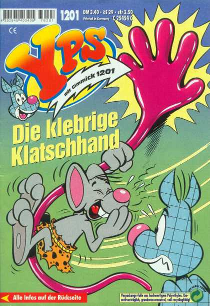 Yps - Die klebrige Klatschhand - Mouse - Animal - Hand - Sticky - Wall