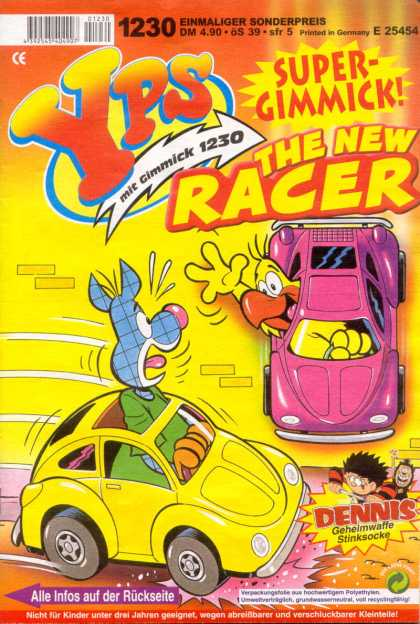Yps - The New Racer - Racer - Purple Car - Bird - Volkswagon - Bumper