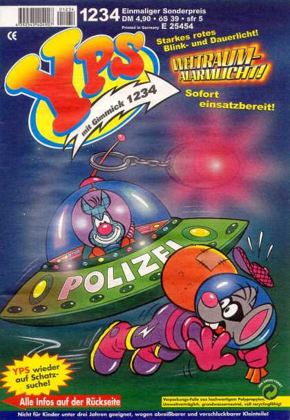 Yps - Weltraum-Alarmlicht - Mouse - Space Ship - Mit Gimmick 1234 - Polizei - Space Suit