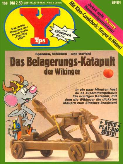 Yps - Das Belagerungs-Katapult der Wikinger - Mouse - Catapult - Viking Hat - Sword - Orange Ball