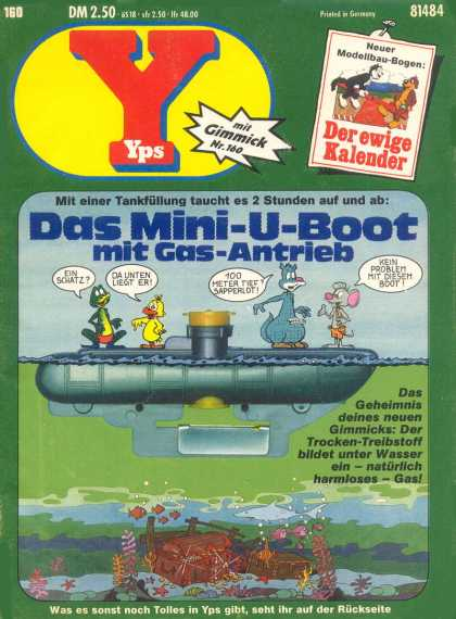 Yps - Das Mini-U-Boot mit Gas-Antrieb - Sunken Treasures And Submarines - Cartoon Mishaps And Adventures - Saturday Morning Fun - I Found It First So It Is Mine - Wish I Knew How To Make This Thing Dive