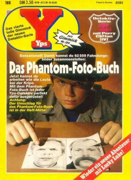 Yps - Das Phantom-Foto-Buch - Photo - Boy - Hat - Mugshots - Detective
