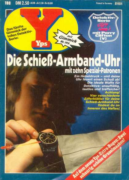 Yps - Die Schieß-Armband-Uhr - Wristwatch - Boy - Gimmick - Perry Clifton - Germany