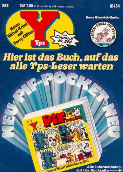 Yps - Pif Pocket Nr. 6 - Mouse - Cat - Animals - Y - Ball
