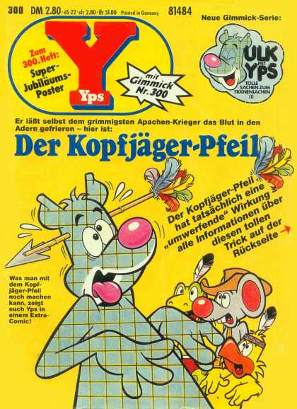 Yps - Der Kopfj�ger-Pfeil - Gimmick - Duck - Mouse - Arrow Through Head - Feathers