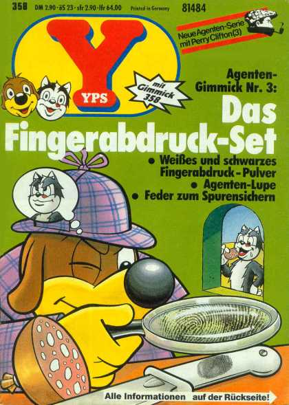 Yps - Das Fingerabdruck-Set - Fingerprints - Dog - Cat - Detective - Knife