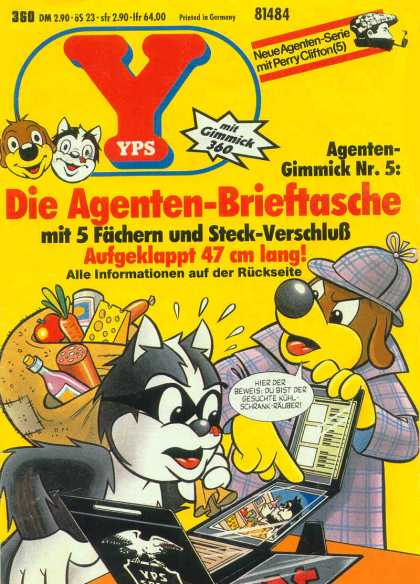 Yps - Die Agenten-Brieftasche - Detective - Dog - Cat - Groceries - Neue Agenten-serie Mit Perry Clifton