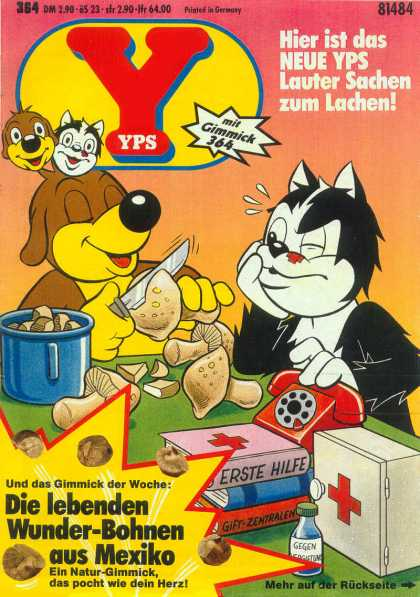 Yps - Die lebenden Wunder-Bohnen aus Mexiko - Cat - Dog - Mushrooms - Phone - First Aid Kit
