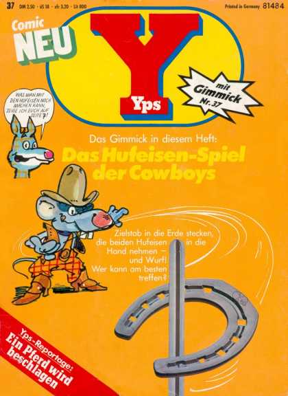 Yps - Das Hufeisen-Spiel der Cowboys - Horseshoes - Mouse - Cowboy Hat - Big Teeth - Boots