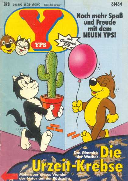 Yps - Die Urzeit-Krebse - Cactus - Balloon - Cat - Dog - Corner Of Building