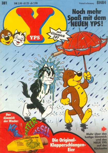 Yps - Die Original-Klapperschlangen-Eier - Cat - Dog - Umbrella - Spout - Rain