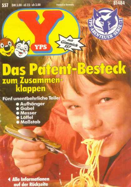 Yps - Das Patent-Besteck zum Zusammenklappen - Boy Loves Pasta - Easy To Cook Pasta - Yummy Pasta - Utility Fork - Dos And Cat