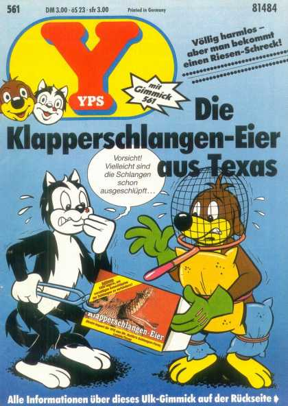 Yps - Die Klapperschlangen-Eier aus Texas - Dog - Skunk - Rattlesnake - Homemade Safety Suit - Cartoon Animals