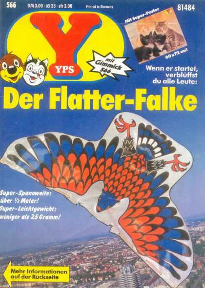 Yps - Der Flatter-Falke - Dog - Cat - Mit Gimmick 566 - Printed In Germany - Bird