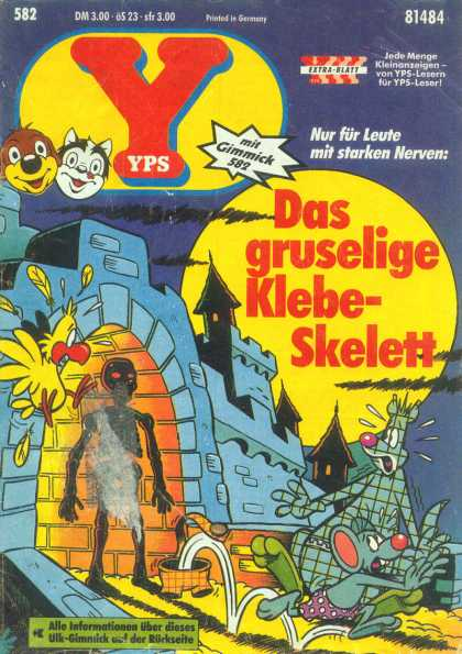 Yps - Das gruselige Klebe-Skelett - Castle - Bird - Skeleton - Night - Moon