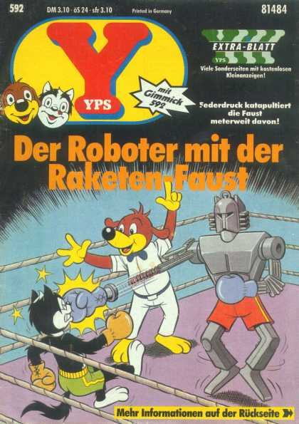 Yps - Der Roboter mit der Raketen-Faust - Dog - Boxing Ring - Cat - Robot - Red Shorts
