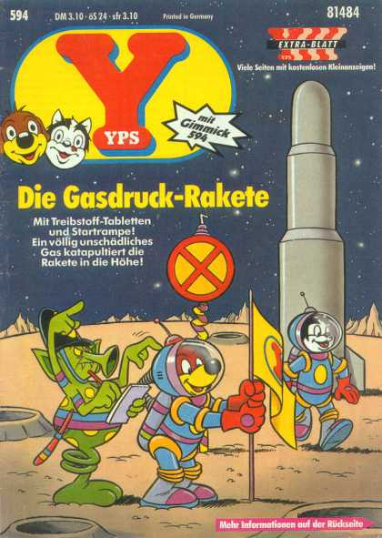 Yps - Die Gasdruck-Rakete - German - Rocket - Space - Moon - Alien