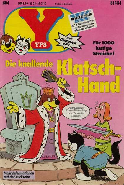 Yps - Die knallende Klatsch-Hand - King - Throne - Crown - Spear - Chain