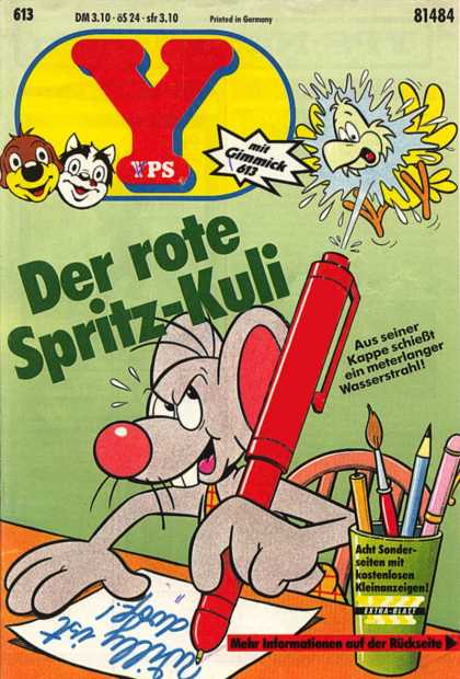 Yps - Der rote Spritz-Kuli - Cat - Dog - Mouse - Bird - Pen