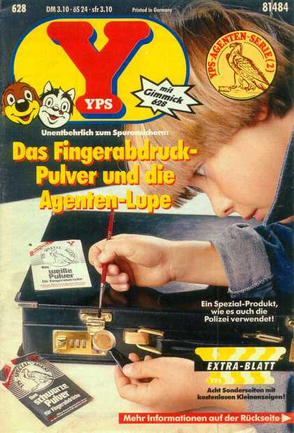 Yps - Das Fingerabdruck-Pulver und die Agenten-Lupe - Boy - Cat - Paintbrush - Detective Kit - Briefcase