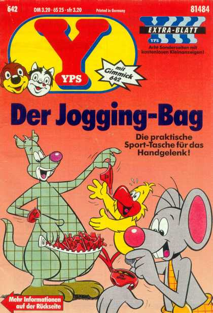 Yps - Der Jogging-Bag - Der Jogging-bag - Mouse - Chicken - Zip - Animals