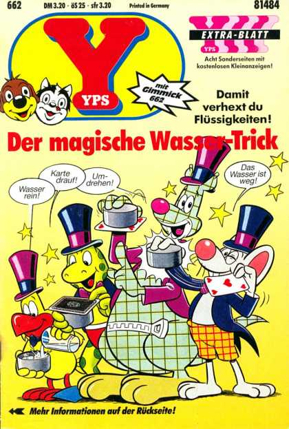 Yps - Der magische Wasser-Trick - Magic - Frog - Mouse - Cards - Table