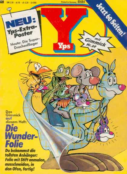 Yps - Die Wunder-Folie - Frog - Duck - Mouse - Animals - Gimmick