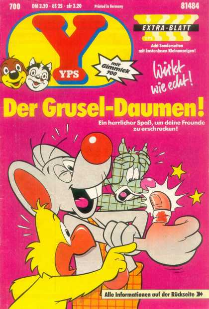 Yps - Der Grusel-Daumen - Mouse - Bird - Sore Thumb - Red Nose - Band Aid