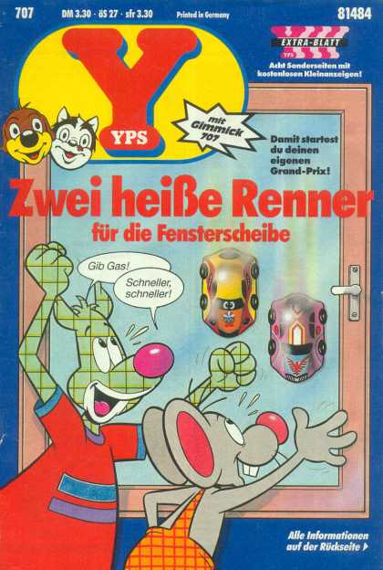 Yps - Zwei hei�e Renner - Pif And Hercule - Running Cars - Competition - Little Mose - Childs Friends