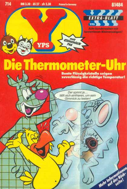 Yps - Die Thermometer-Uhr - In Frozen State - The Ice Arrest - Deep Freeze - Mouse In The Ice - Brrr Its Cccold