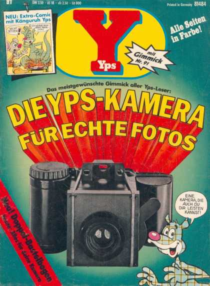 Yps - Die Yps-Kamera für echte Fotos - German Comic - Camera - Mouse - Extra Comic Inside - Taking Pictures