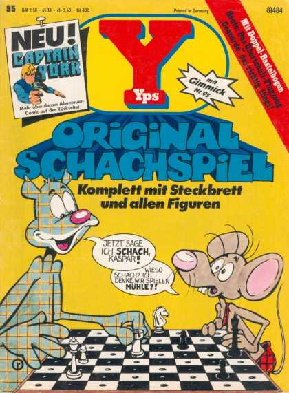 Yps - Original Schachspiel - Cat - Mouse - Chess - Plad - Game