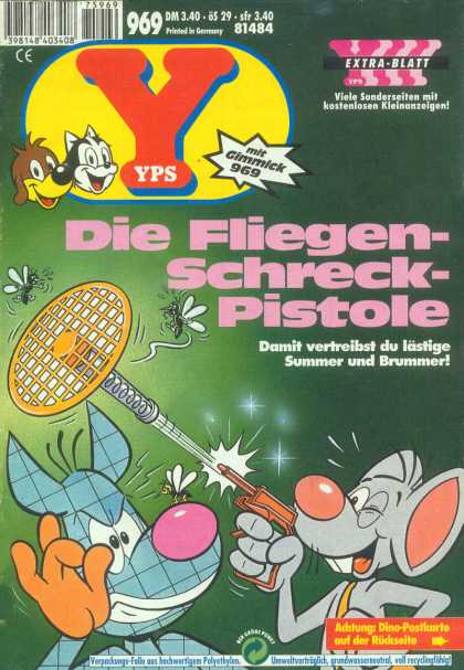 Yps - Die Fliegen-Schreck-Pistole - Gimmick 969 - Cat - Dog - Mouse - Flying Insects
