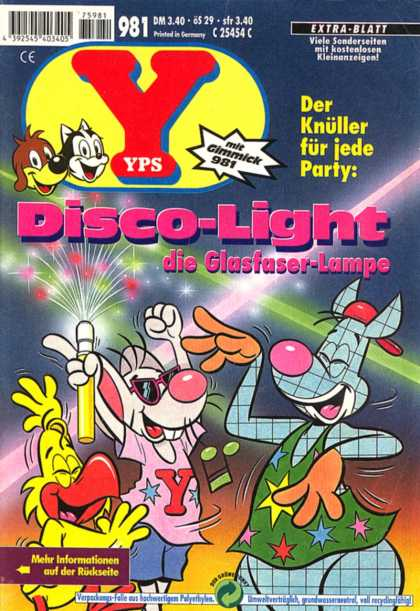 Yps - Disco-Light, die Glasfaser-Lampe - Simple - Coloful - Disco - Glow Stick - Dancing