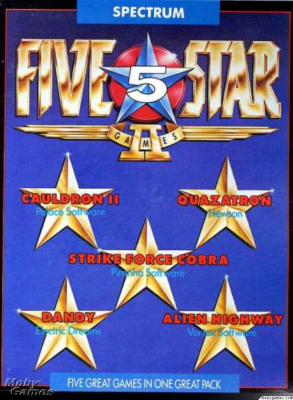 ZX Spectrum Games - Five Star Games 2