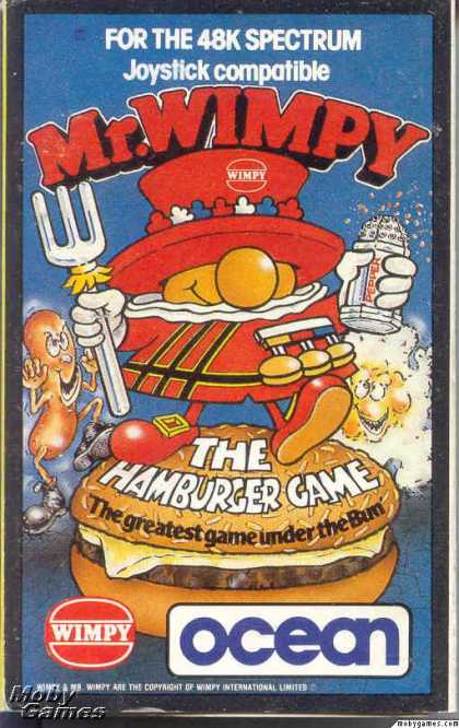 ZX Spectrum Games - Mr. Wimpy: The Hamburger Game