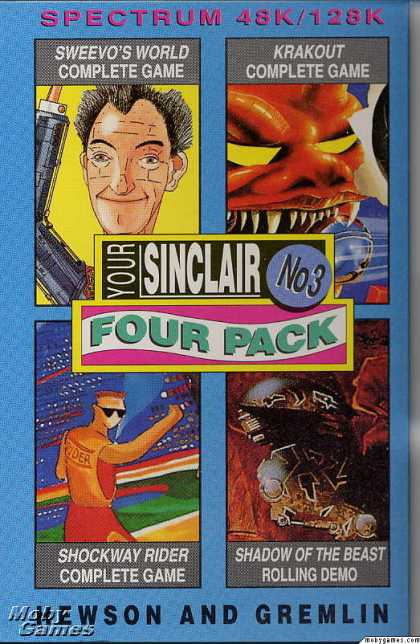 ZX Spectrum Games - Your Sinclair Four Pack December 1990