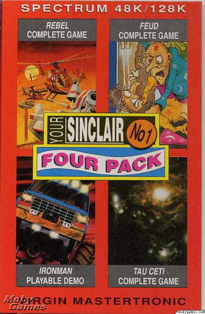 ZX Spectrum Games - Your Sinclair Four Pack October 1990