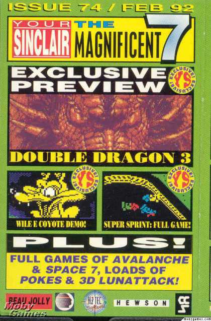ZX Spectrum Games - Your Sinclair Magnificent 7 February 1992