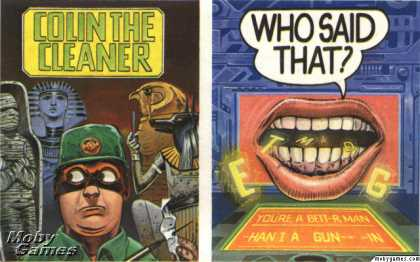 ZX Spectrum Games - Colin The Cleaner + Who Said That?